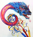 Dragon From Color Pencils