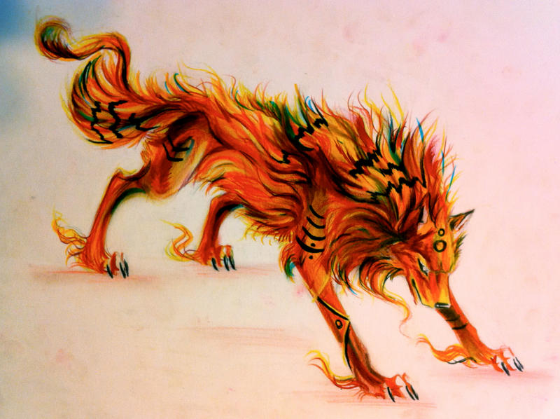 Wolf Of Fire Fire Wolf by Lu...