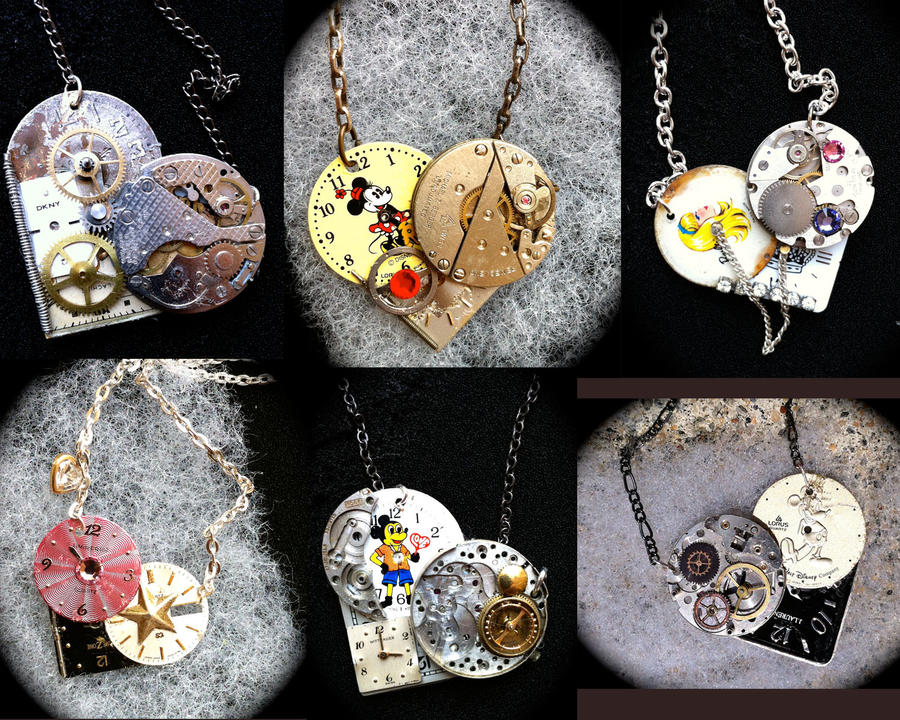 Themed Steampunk Hearts (some Disney) by Lucky978