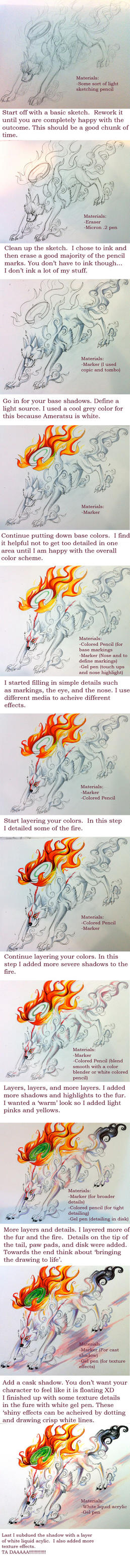 Coloring Tutorial- Okami Wolf by Lucky978