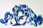 MelodyoftheWolf Pony Wolf Commission
