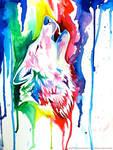 Rainbow Wolf Commission