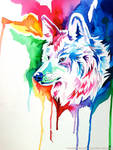 Rainbow Wolf Commission 2