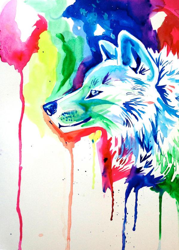 rainbow wolf wallpaper - photo #6
