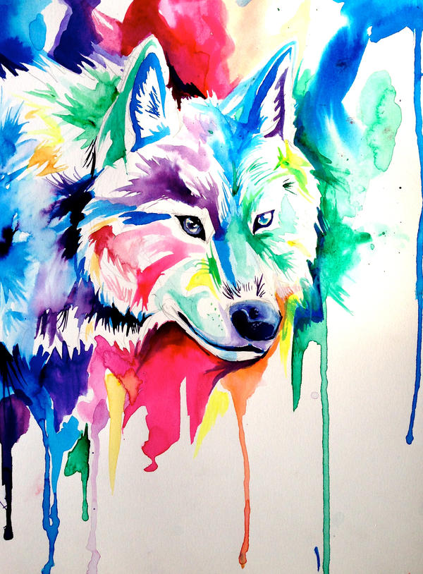 Rainbow Wolf 6 by Lucky978