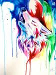 Rainbow Wolf Commission 5