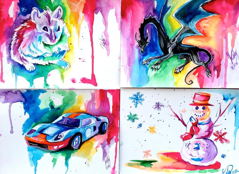 Rainbow Santa Batch 2 by Lucky978