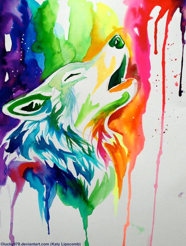New Rainbow Wolf On Ebay By Lucky978