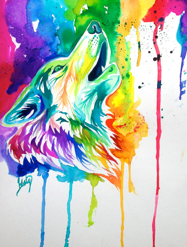 Colorful Wolf by Lucky978 on DeviantArt I Am Really Sorry Wallpaper