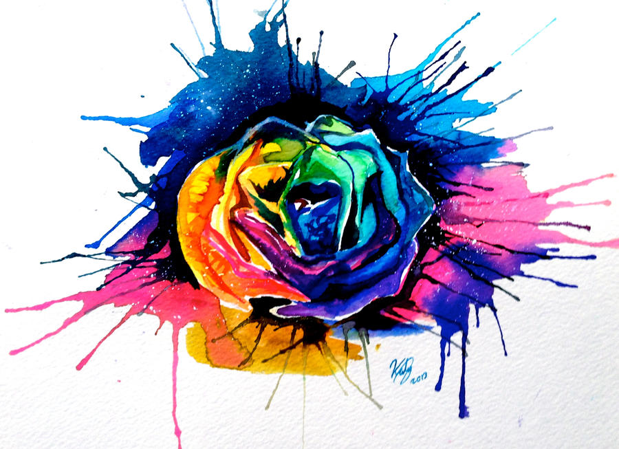 Rainbow Rose by Lucky978 on DeviantArt