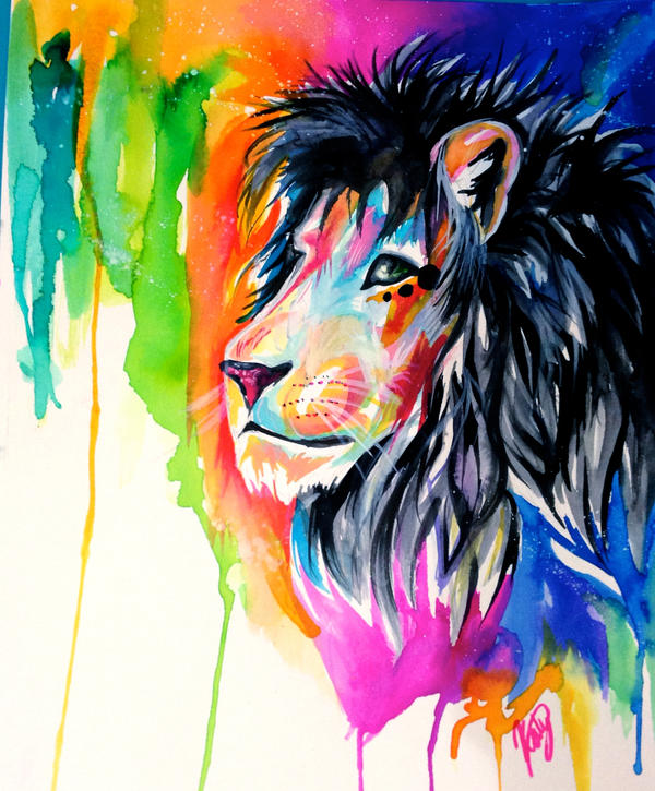 Rainbow Lion by Lucky978