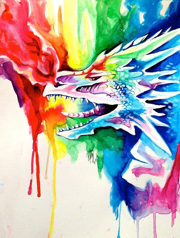 big rainbow dragon wallpaper - photo #20