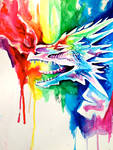 Rainbow Dragon Commission