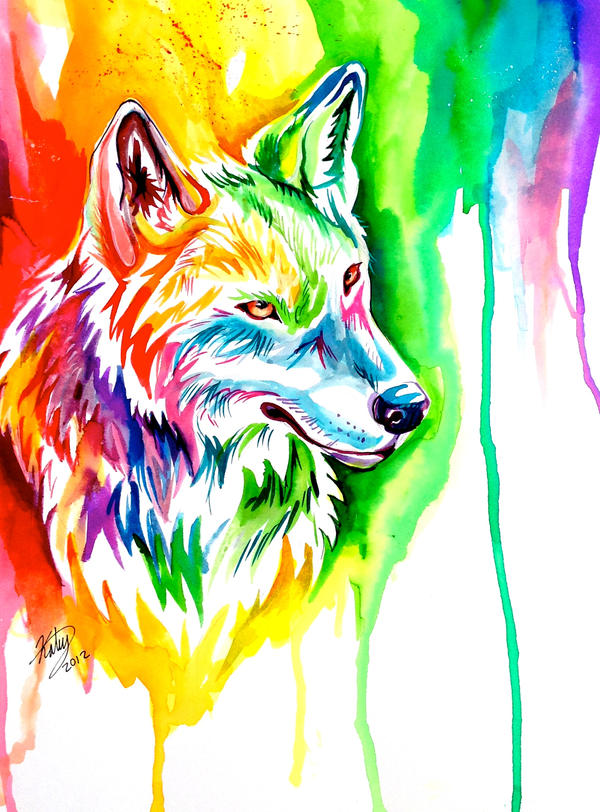 Rainbow Wolf 6 by Lucky978 on DeviantArt