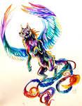 Flying Wolf Tattoo