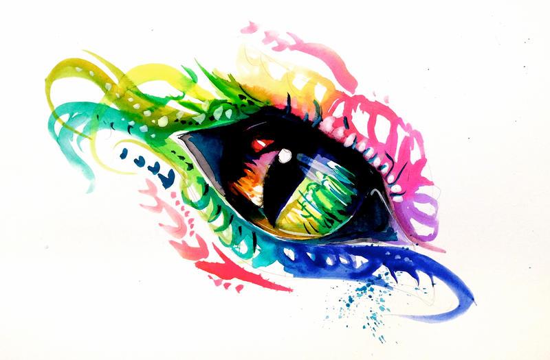 Rainbow Dragon Eye by Lucky978