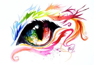 Rainbow Cat Eye by Lucky978