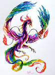 Rainbow Phoenix Tattoo