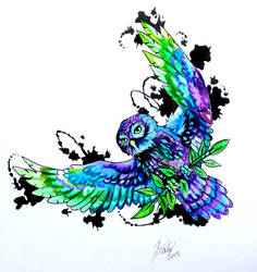 Owl Tattoo Design by Lucky978