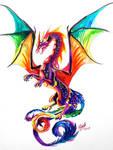 Rainbow Dragon Tattoo