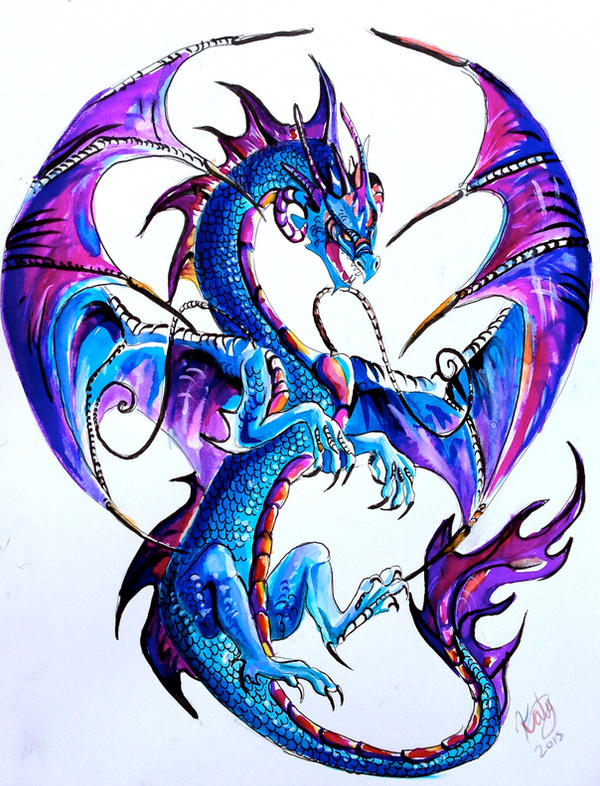 Western Dragon Tattoo by Lucky978