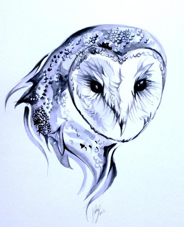 Barn Owl Tattoo by Lucky978