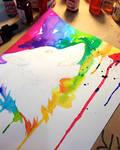 Rainbow Watercolor Process
