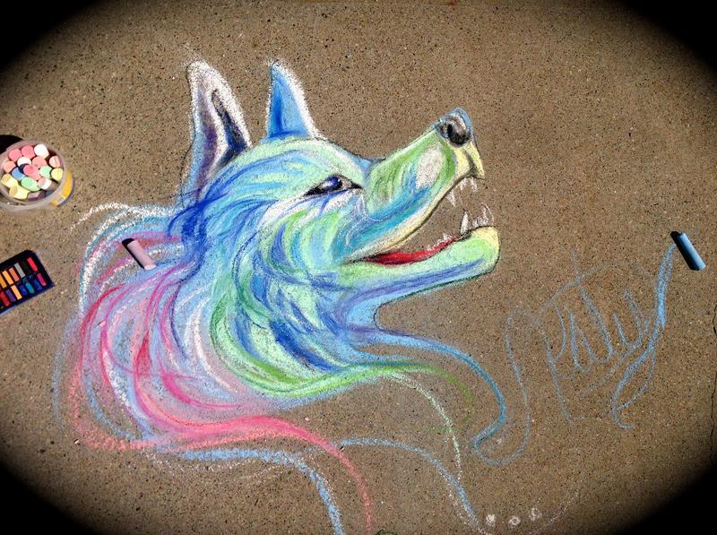 Sidewalk Wolf by Lucky978