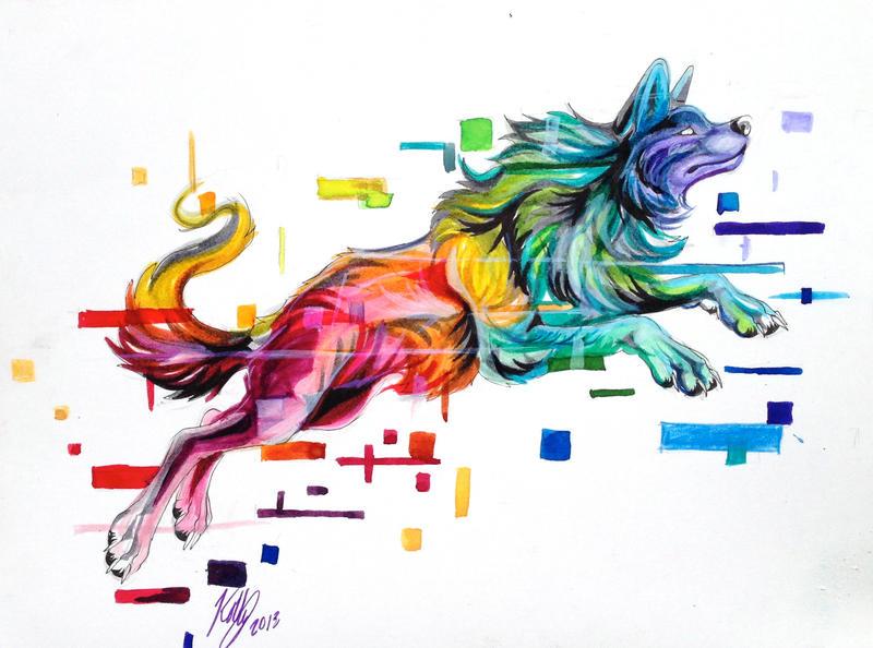 Rainbow Glitch by Lucky978