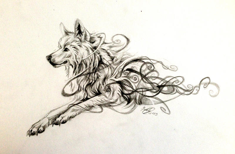 Swirly Wolf Design by Lucky978