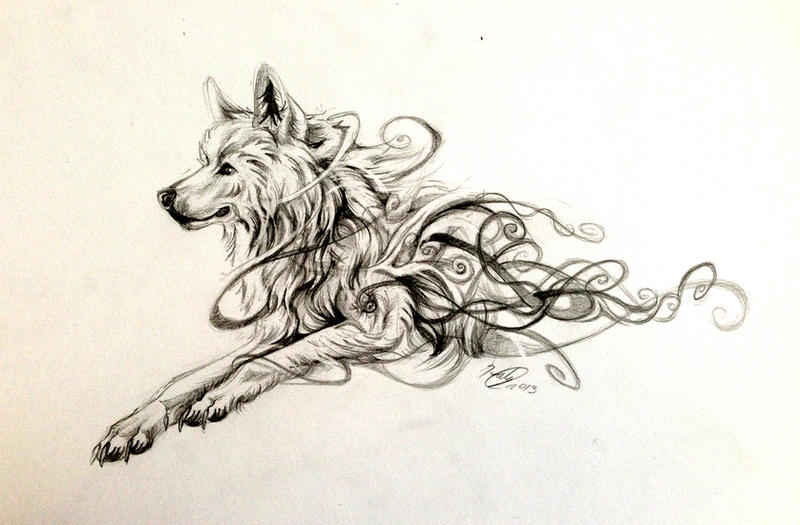 Swirly Wolf Design By Lucky978 On DeviantArt