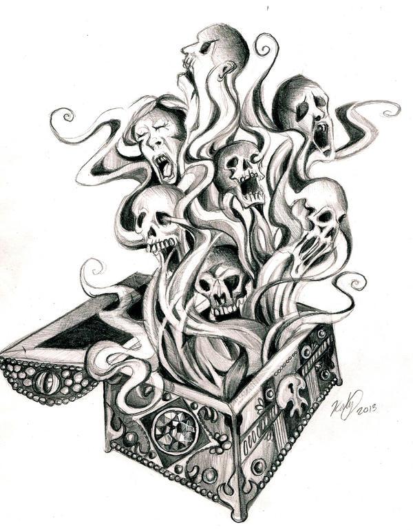 Pandora S Box Tattoo Designs