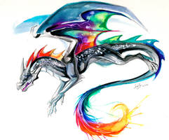Tie-Dye Dragon Tattoo by Lucky978