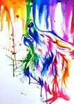 Rainbow Wolf Tattoo Sleeve