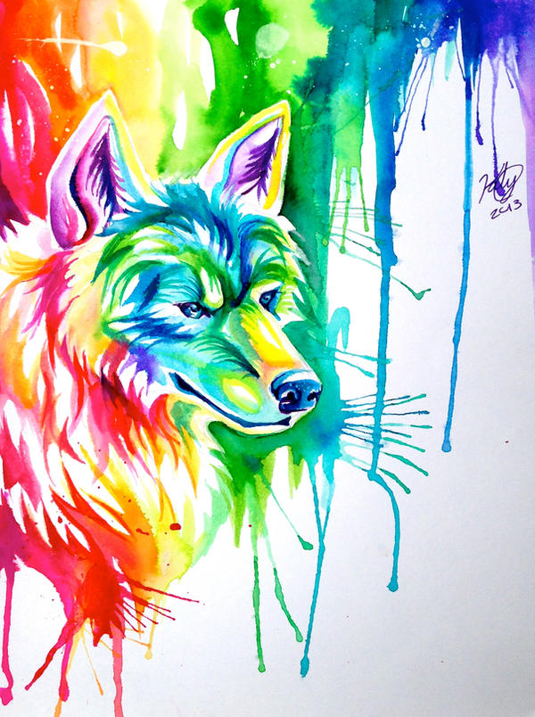 rainbow wolf wallpaper - photo #22