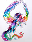 Flying Fantasy Wolf Design