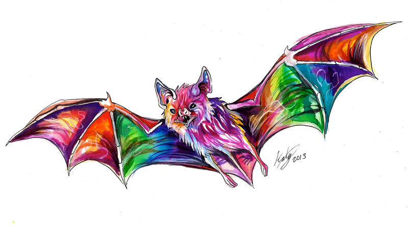 Rainbow Bat by Lucky978