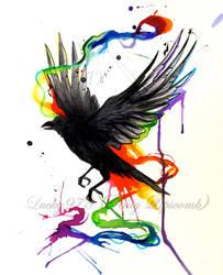 Crow watercolor Tattoo