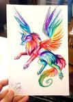 Small Rainbow Wolf