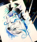 White Wolf and Ravens