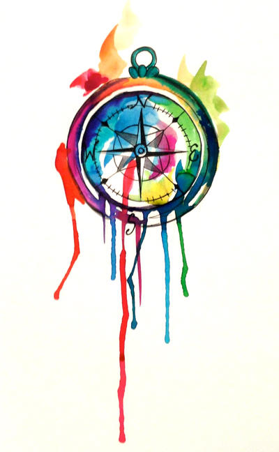 d01096dca Watercolor Compass Tattoo by Lucky978 on DeviantArt