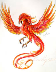 Phoenix Tattoo Design by Lucky978