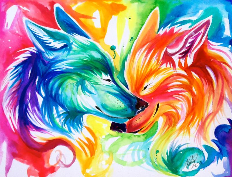 rainbow wolf wallpaper - photo #20