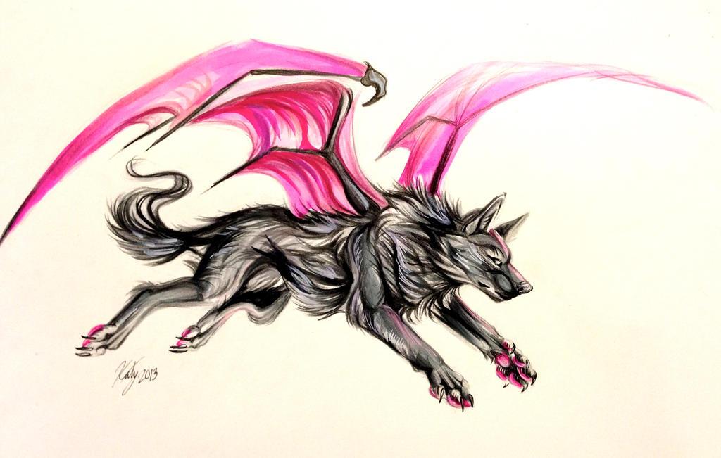 Bat Wolf Tattoo by Lucky978