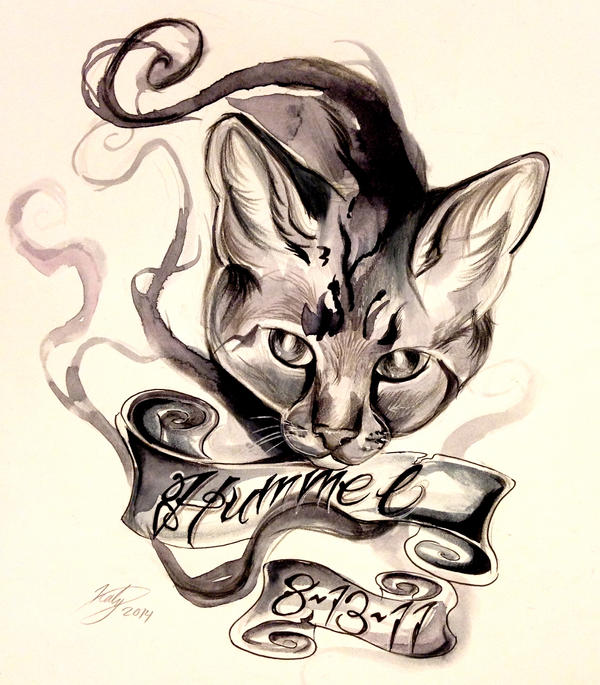 Cat TattooCommission by Lucky978