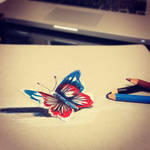 Don't Fly Away (3D Drawing)