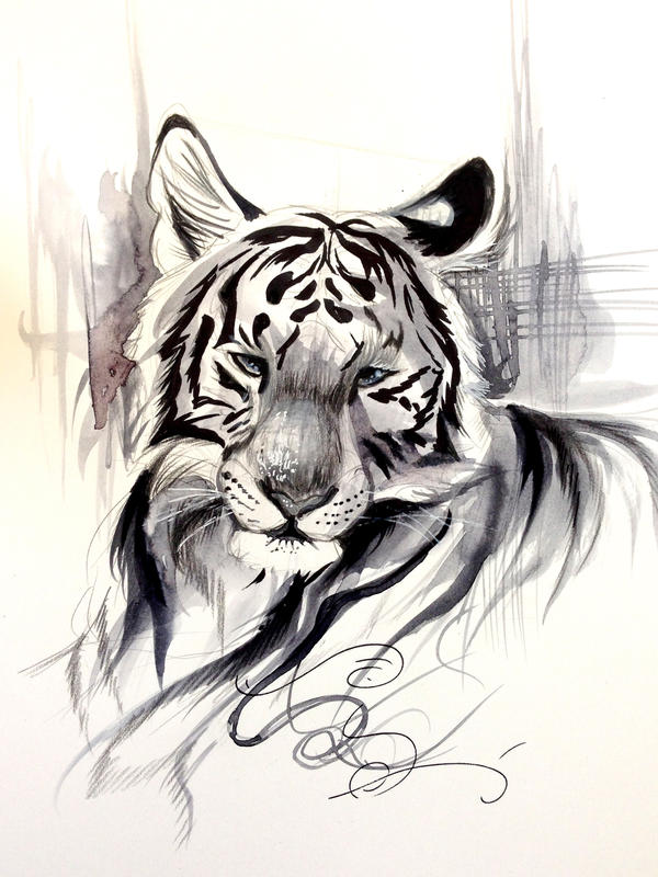 Ink Wash Tiger by Lucky978