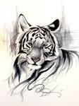 Ink Wash Tiger