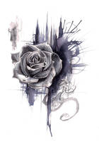 Rose Drawing- Print by Lucky978