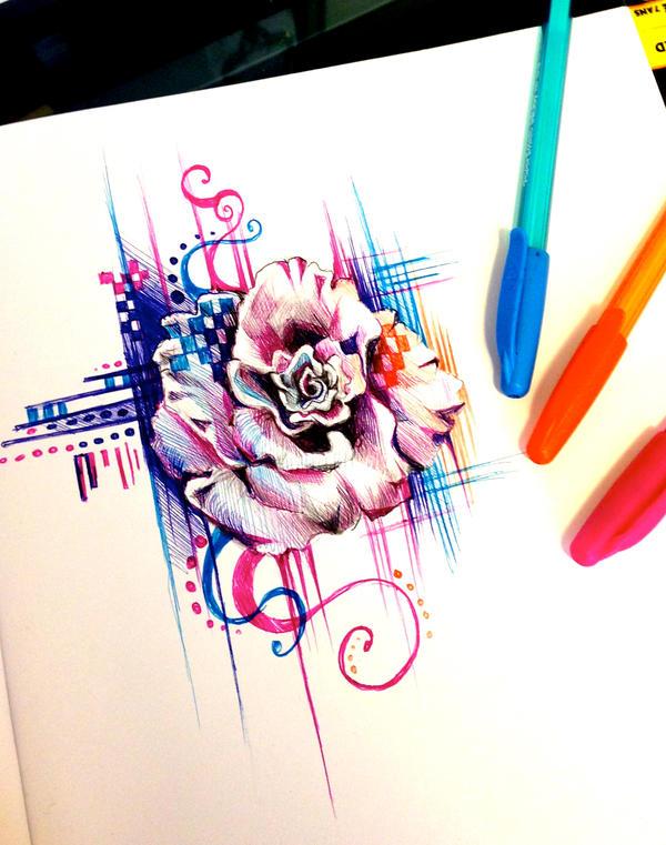 Rose Pen Design